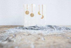Fases Lunares con cadenita Pendientes / Earrings