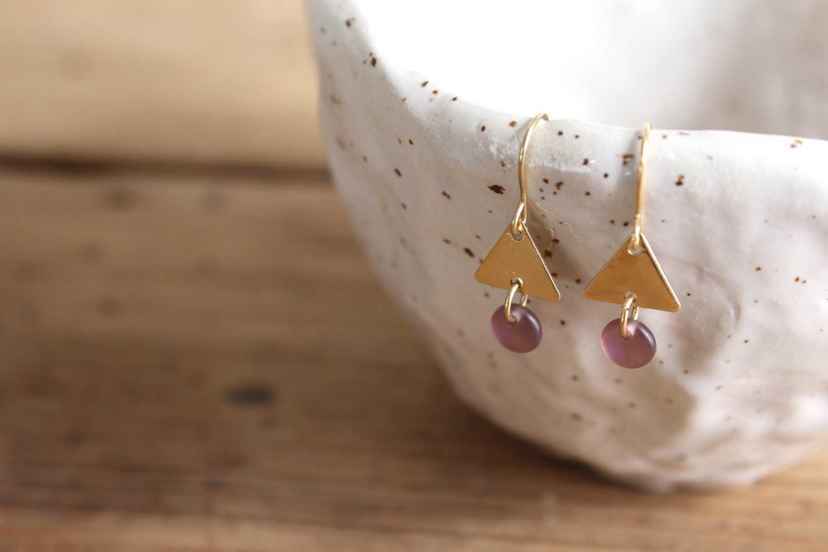 Oregon Pendientes/Earrings (Chapado Oro 16kt)