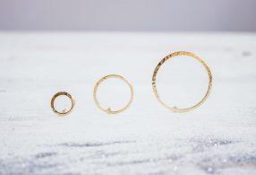 Pendientes círculo Cosmos de Fauna y Flora joyas inspiradas en el universo