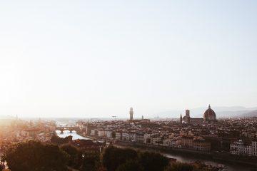 Postal de Florencia desde plaza Michelangelo