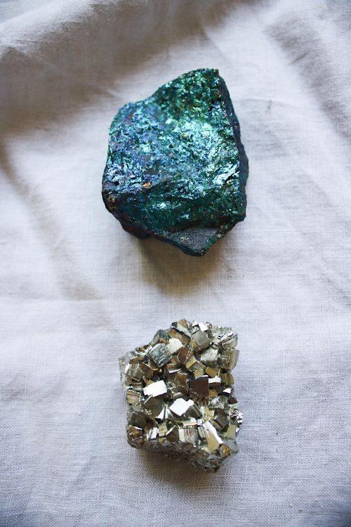 Minerales Calcopirita pirita Selected Crystals