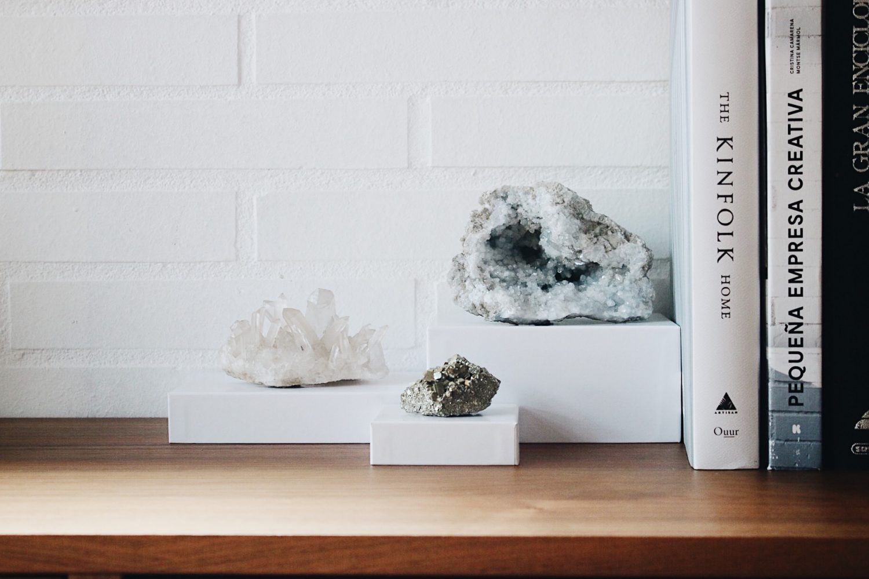 Fauna y Flora Selected Crystals Piedras Naturales para decorar tu hogar. Decoración. Amatista, Celestina, Cuarzo, Calcopirita, Pirita