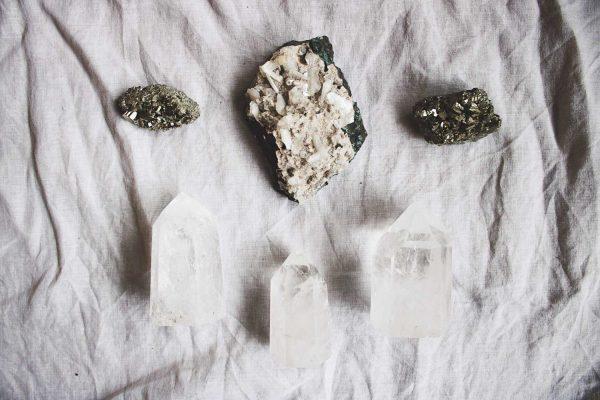 Drusa Heulandita Apofilita Pirita Puntas Cuarzo Selected Crystals Fauna y Flora