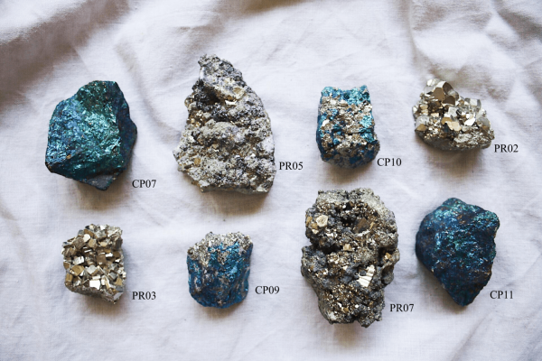 Minerales Calcopirita pirita Selected Crystals