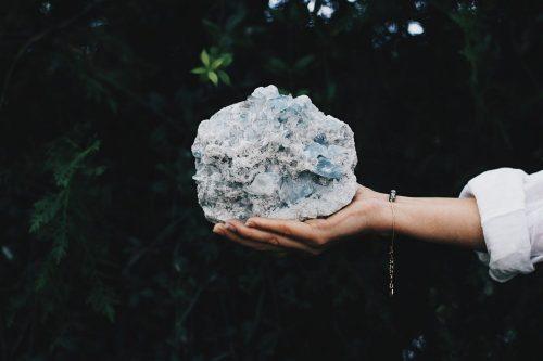 Mineral Celestina Drusa Fauna y Flora Selected Crystals