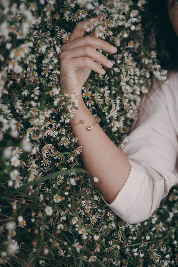 Pulsera Átomo Esclava Chapado en oro de 18kt Fauna y Flora