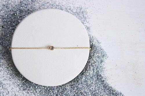 Pulsera Estrella Polar circonita Chapada en oro de 18k