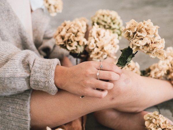 Fauna y Flora anillos de plata y piedras naturales hechos a mano