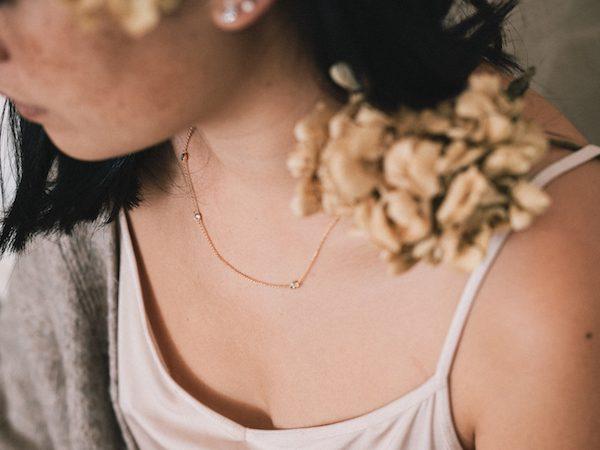 Collar de Fauna y Flora con brillantitos circonitas