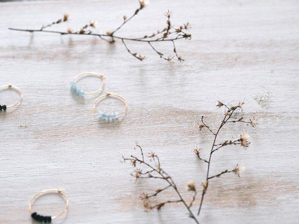 Pendientes de aro de aguamarina de Fauna y Flora